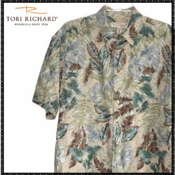 5c16143a Tori Richard Shirts | Shirt M Mens Tropical Palms Cruise | Poshmark